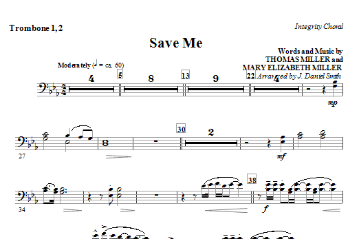 Save Me - Trombone 1 & 2 Sheet Music