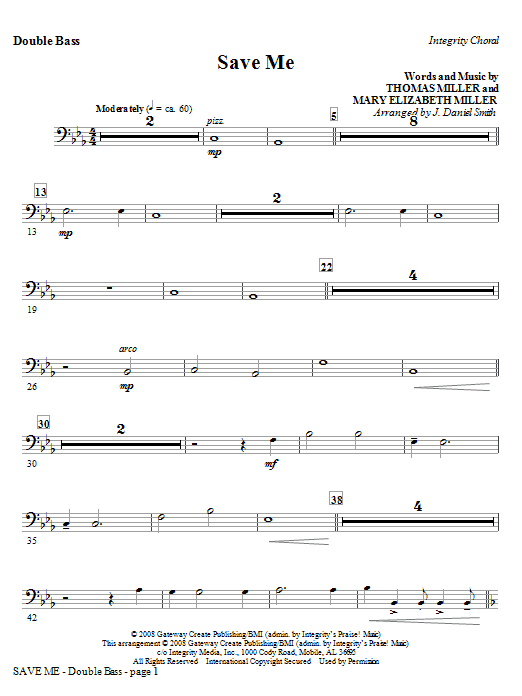 Save Me - Alto Sax (Horn sub.) Sheet Music