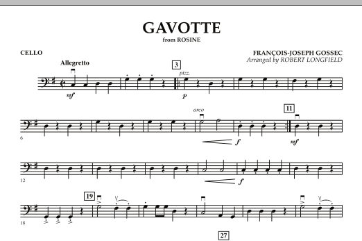"Gavotte (from ""Rosine"") - Cello Sheet Music"