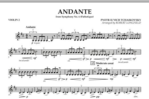 "Andante (from Symphony No.6 ""Pathetique"") - Violin 2 (Orchestra)"