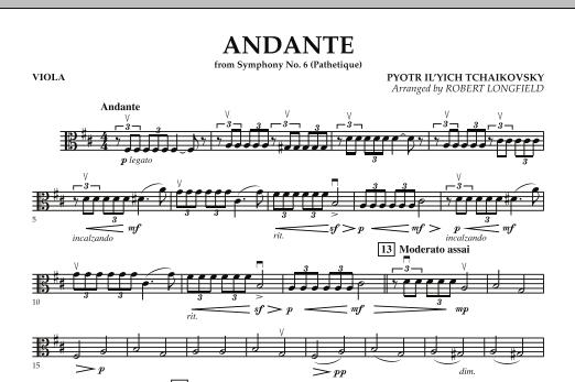 "Andante (from Symphony No.6 ""Pathetique"") - Viola (Orchestra)"