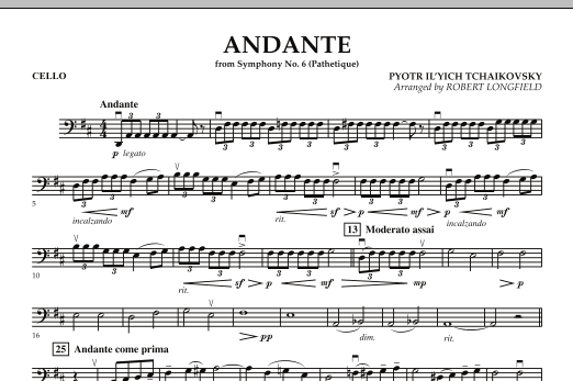 "Andante (from Symphony No.6 ""Pathetique"") - Cello (Orchestra)"
