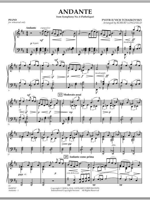 "Andante (from Symphony No.6 ""Pathetique"") - Piano (Orchestra)"