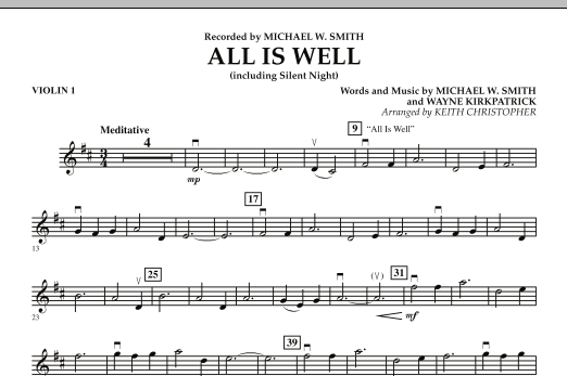 All Is Well (including Silent Night) - Violin 1 (Orchestra)