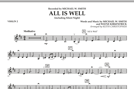 All Is Well (including Silent Night) - Violin 2 (Orchestra)