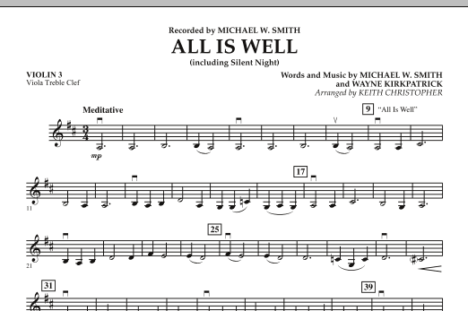 All Is Well (including Silent Night) - Violin 3 (Viola T.C.) (Orchestra)