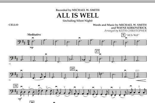 All Is Well (including Silent Night) - Cello (Orchestra)