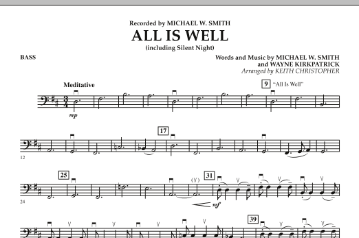 All Is Well (including Silent Night) - String Bass (Orchestra)
