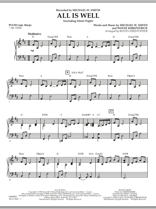 All Is Well (including Silent Night) - Piano (Orchestra)