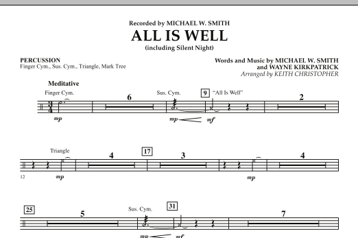 All Is Well (including Silent Night) - Percussion (Orchestra)