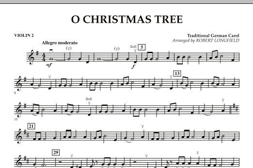 O Christmas Tree - Violin 2 (Orchestra)