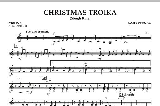 Christmas Troika - Violin 3 (Viola Treble Clef) (Orchestra)
