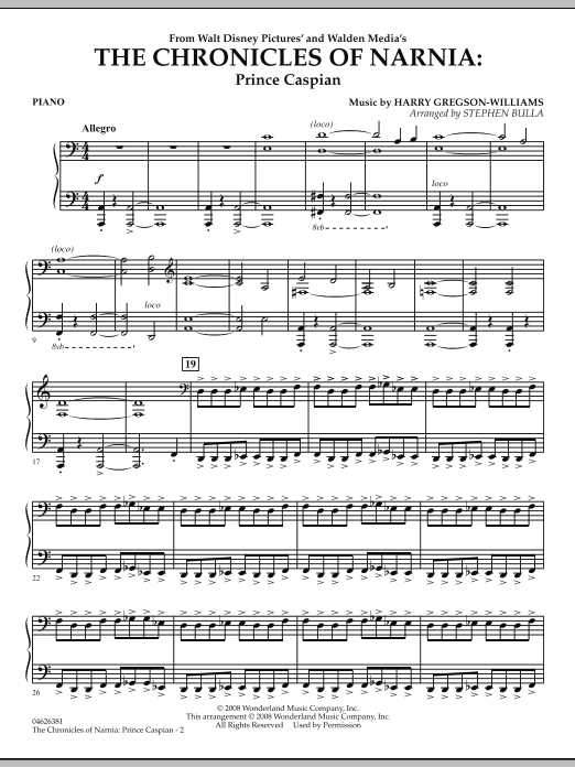 The Chronicles of Narnia: Prince Caspian - Piano (Orchestra)