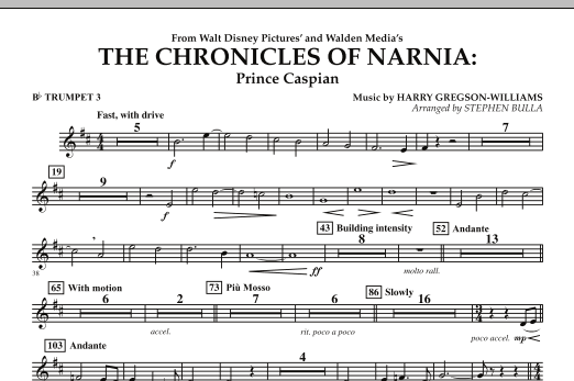 The Chronicles of Narnia: Prince Caspian - Bb Trumpet 3 (Full Orchestra)