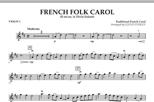 French Folk Carol - Violin 1 (Orchestra)