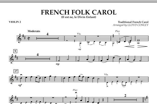 French Folk Carol - Violin 2 (Orchestra)
