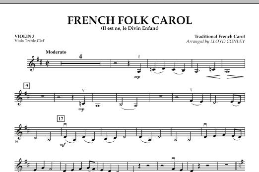 French Folk Carol - Violin 3 (Viola T.C.) (Orchestra)