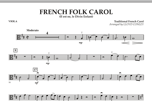 French Folk Carol - Viola (Orchestra)