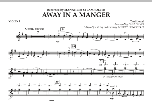 Away in a Manger - Violin 1 (Orchestra)