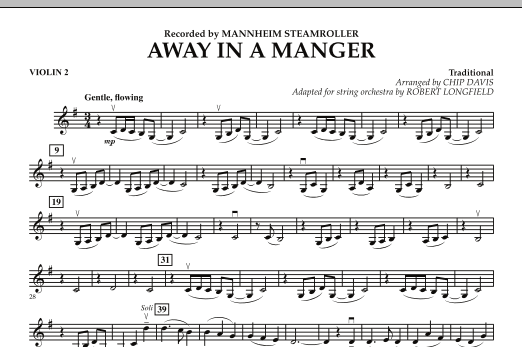 Away in a Manger - Violin 2 (Orchestra)