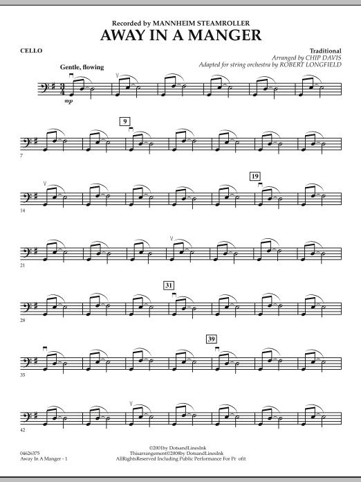 Away in a Manger - Cello (Orchestra)