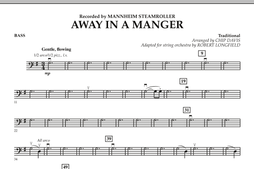 Away in a Manger - Bass (Orchestra)