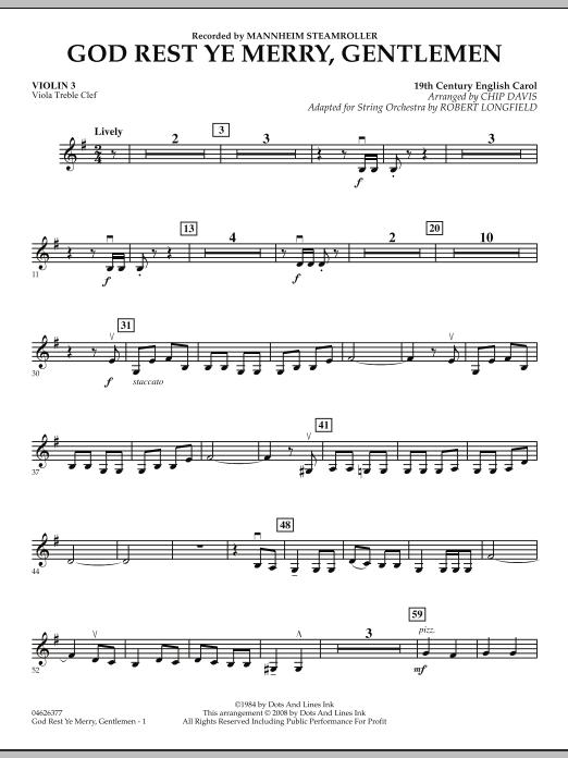 God Rest Ye Merry, Gentlemen - Violin 3 (Viola Treble Clef) (Orchestra)