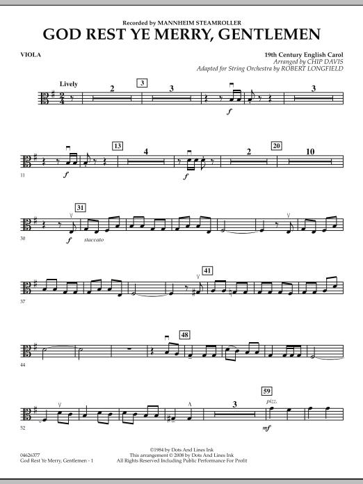 God Rest Ye Merry, Gentlemen - Viola (Orchestra)