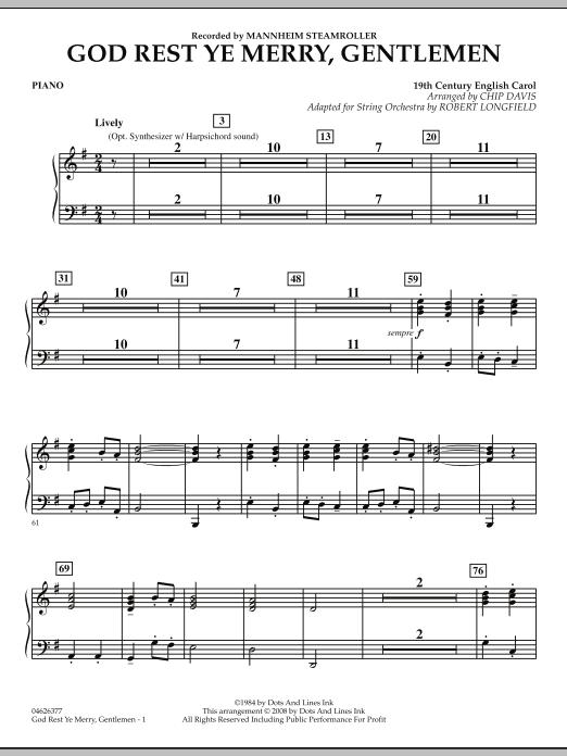 God Rest Ye Merry, Gentlemen - Piano (Orchestra)