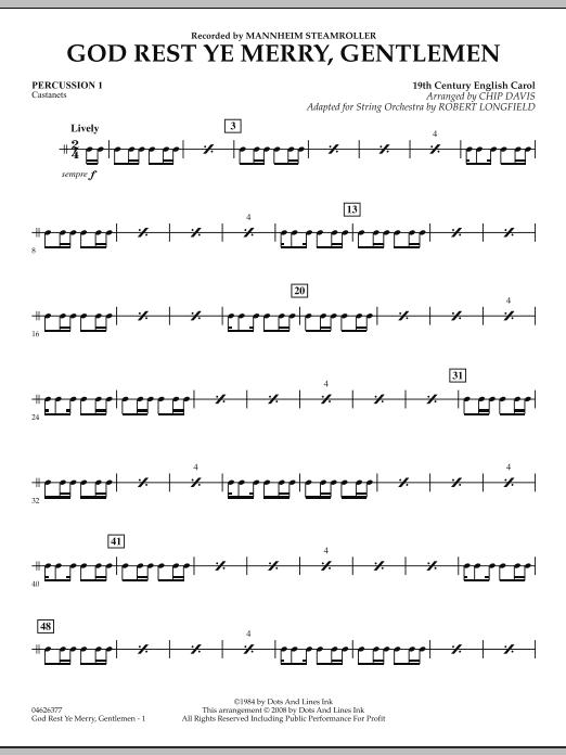 God Rest Ye Merry, Gentlemen - Percussion 1 (Orchestra)