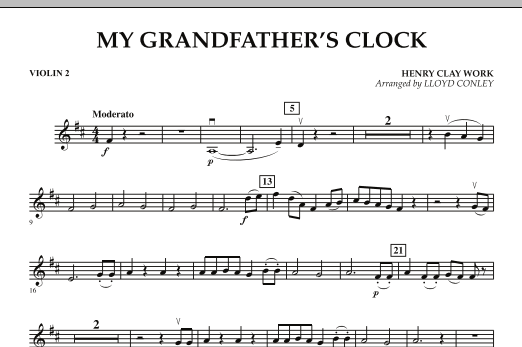 My Grandfather's Clock - Violin 2 (Orchestra)