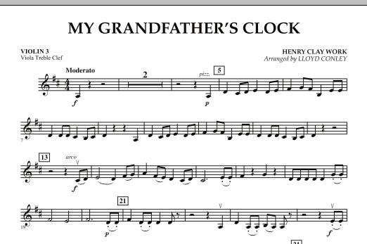 My Grandfather's Clock - Violin 3 (Viola Treble Clef) (Orchestra)
