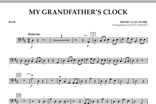 My Grandfather's Clock - Bass (Orchestra)