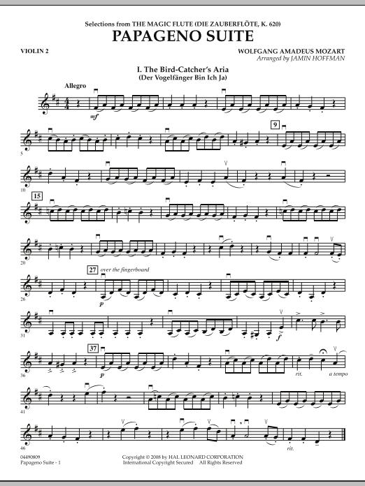 Papageno Suite - Violin 2 (Orchestra)