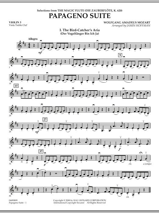 Papageno Suite - Violin 3 (Viola Treble Clef) (Orchestra)