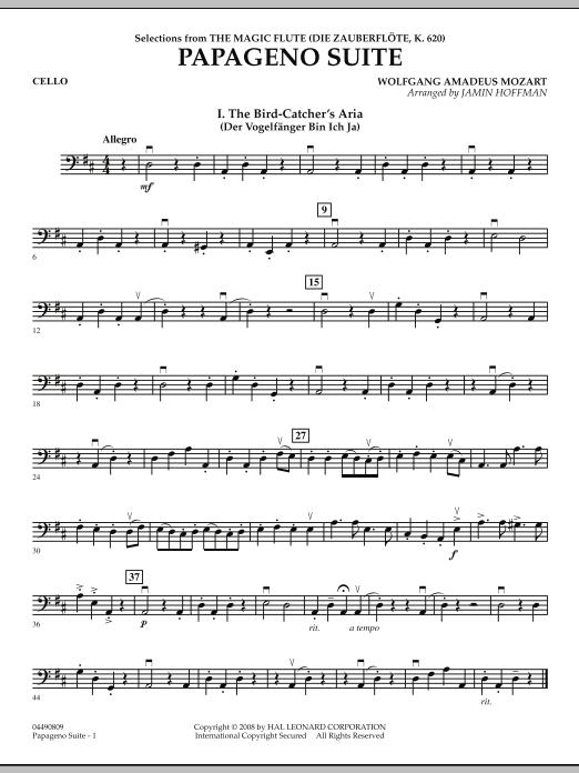 Papageno Suite - Cello (Orchestra)