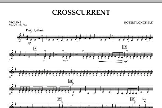 Crosscurrent - Violin 3 (Viola Treble Clef) (Orchestra)