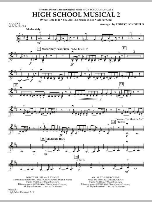 High School Musical 2 - Violin 3 (Viola Treble Clef) (Orchestra)