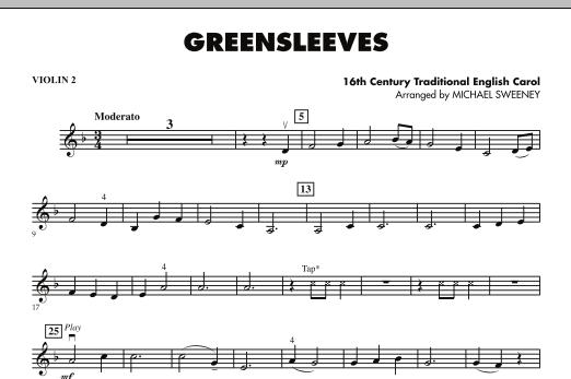 Greensleeves - Violin 2 (Orchestra)