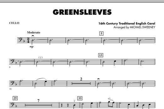 Greensleeves - Cello (Orchestra)