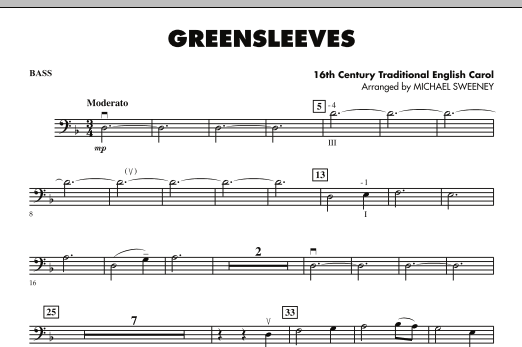 Greensleeves - String Bass (Orchestra)