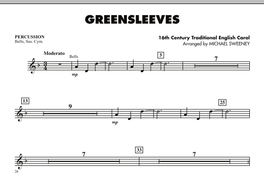 Greensleeves - Percussion (Orchestra)