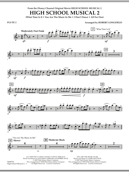 High School Musical 2 - Flute 2 (Full Orchestra)