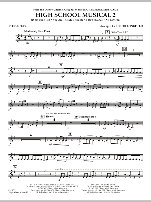 High School Musical 2 - Bb Trumpet 2 (Full Orchestra)