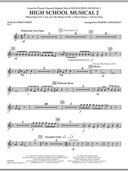 High School Musical 2 - Mallet Percussion (Full Orchestra)
