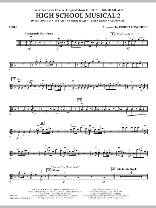 High School Musical 2 - Viola (Full Orchestra)