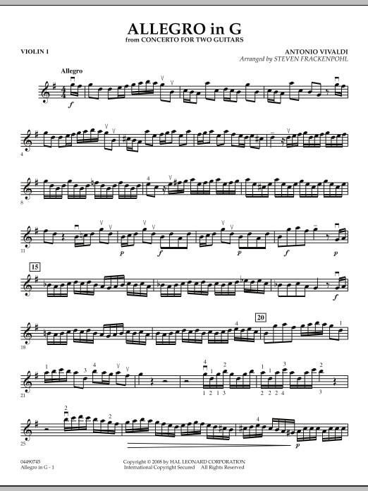 Allegro in G - Violin 1 (Orchestra)