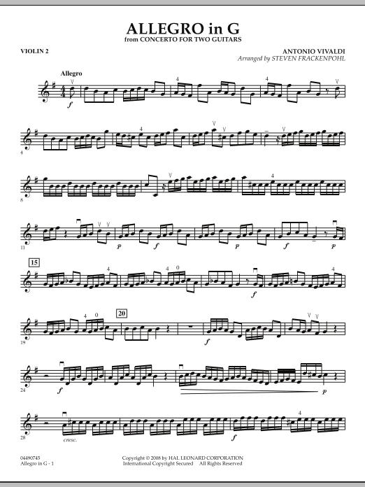 Allegro in G - Violin 2 (Orchestra)
