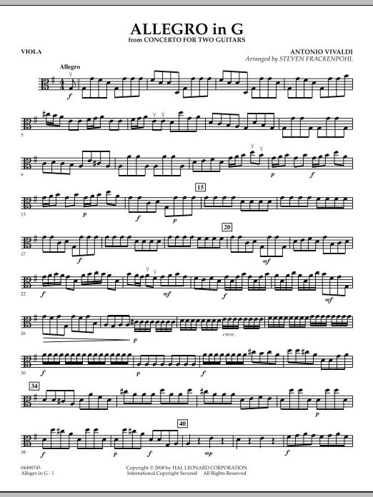 Allegro in G - Viola (Orchestra)