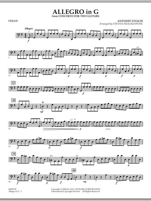 Allegro in G - Cello (Orchestra)